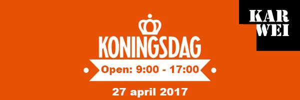 Karwei Boskoop is ook Koningsdag 2017 open!