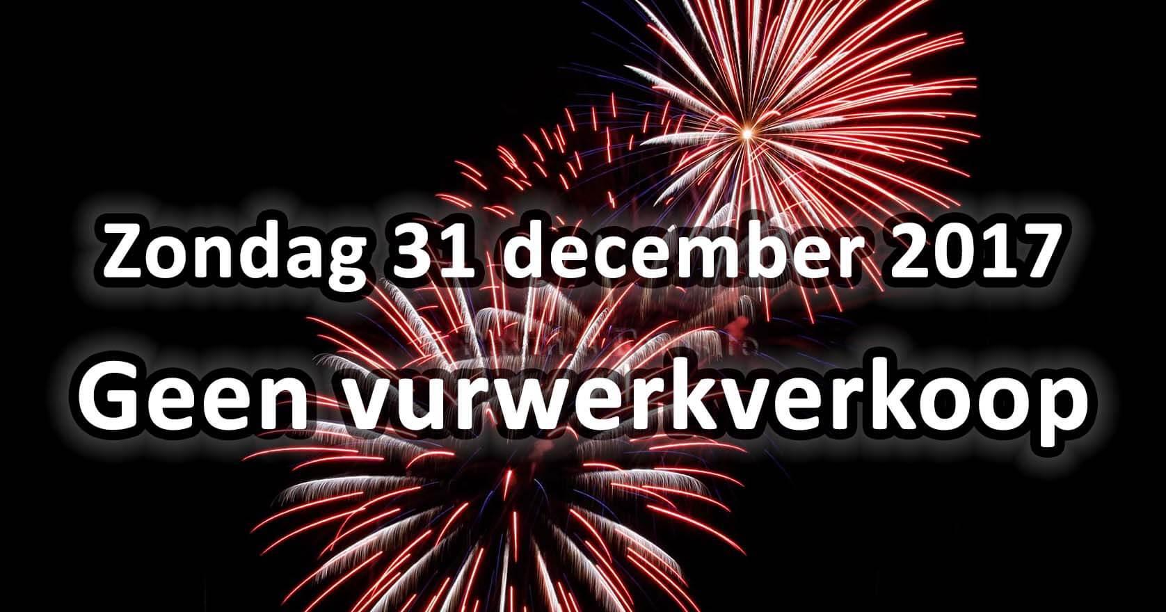 Geen vuurwerkverkoop 31-12-2017
